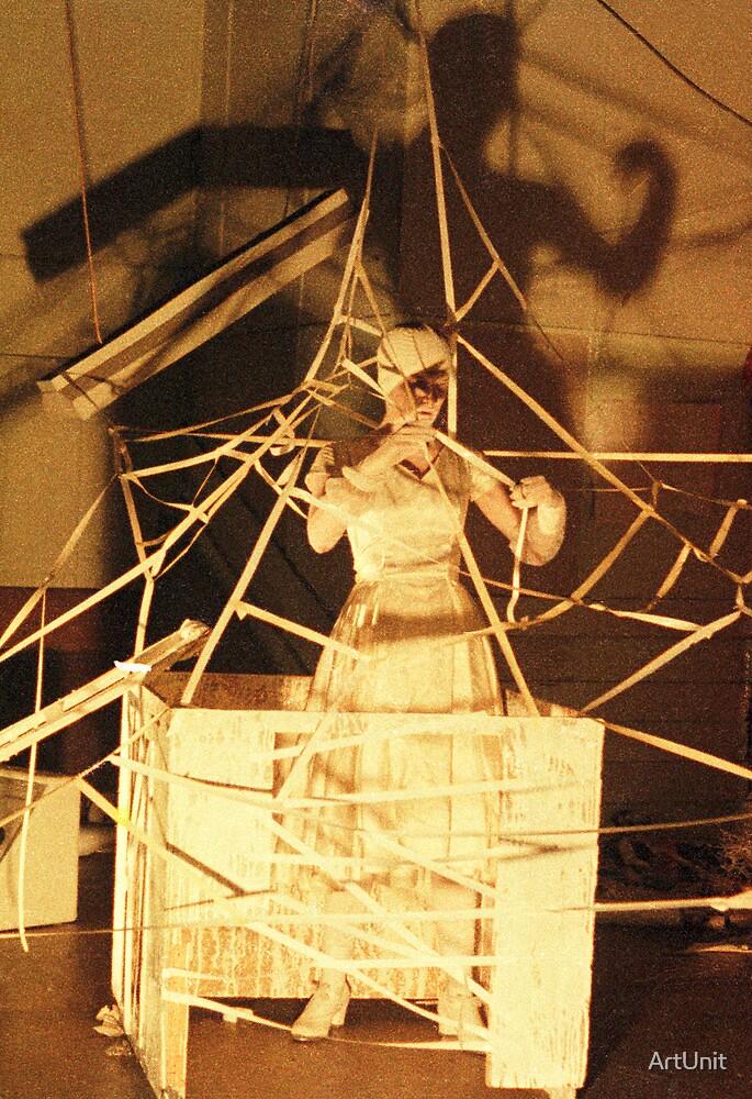 Kathy Morgan performance artist at ANZART in Hobart 1983 by ArtUnit