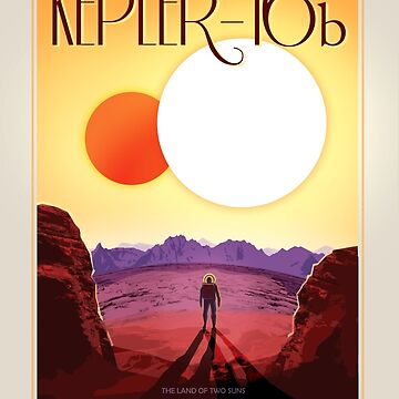 Retro NASA Travel Poster - Kepler 186f by Jeffest