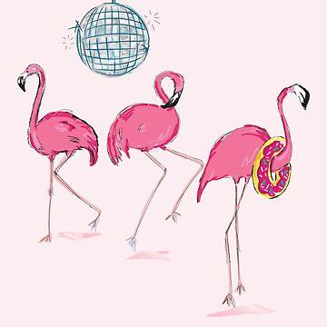 Pink Flamingo Flashy Dance by underwatercity