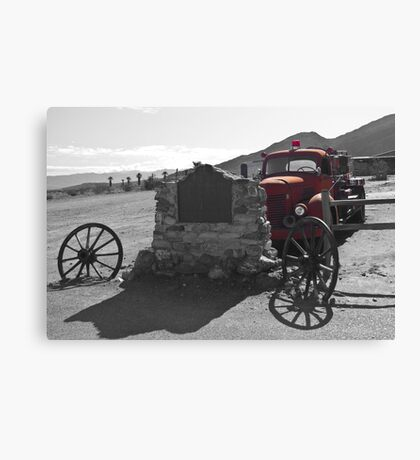 Abandoned Fire Truck, Death Valley Canvas Print