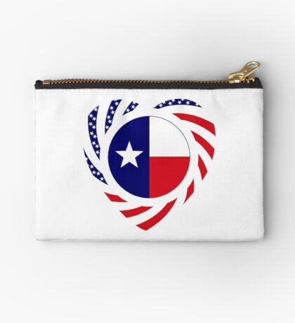 Texan American Murican Patriot Flag Series 2.0 Zipper Pouch