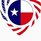 Texan American Murican Patriot Flag Series 2.0 by Carbon-Fibre Media