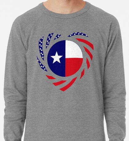 Texan American Murican Patriot Flag Series 2.0 Lightweight Sweatshirt