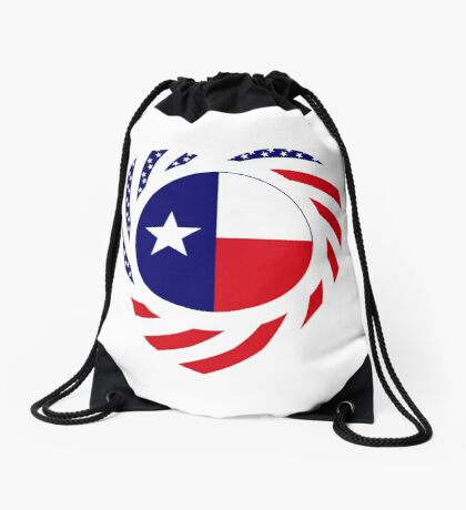 Texan American Murican Patriot Flag Series 2.0 Drawstring Bag