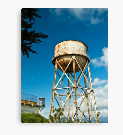 Alcatraz Water Tower Canvas Print