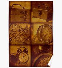 Travel vintage collage Poster