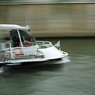 Blurred Boat in Paris by Hans Kool