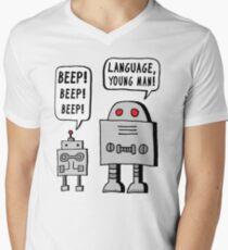 Beeping Robot Men's V-Neck T-Shirt