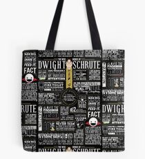 The Wise Words of Dwight Schrute (Dark Tee) Tote Bag