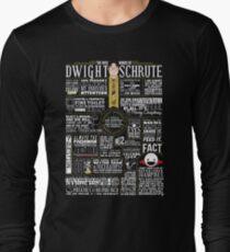 Camiseta de manga larga Las sabias palabras de Dwight Schrute (camiseta oscura)