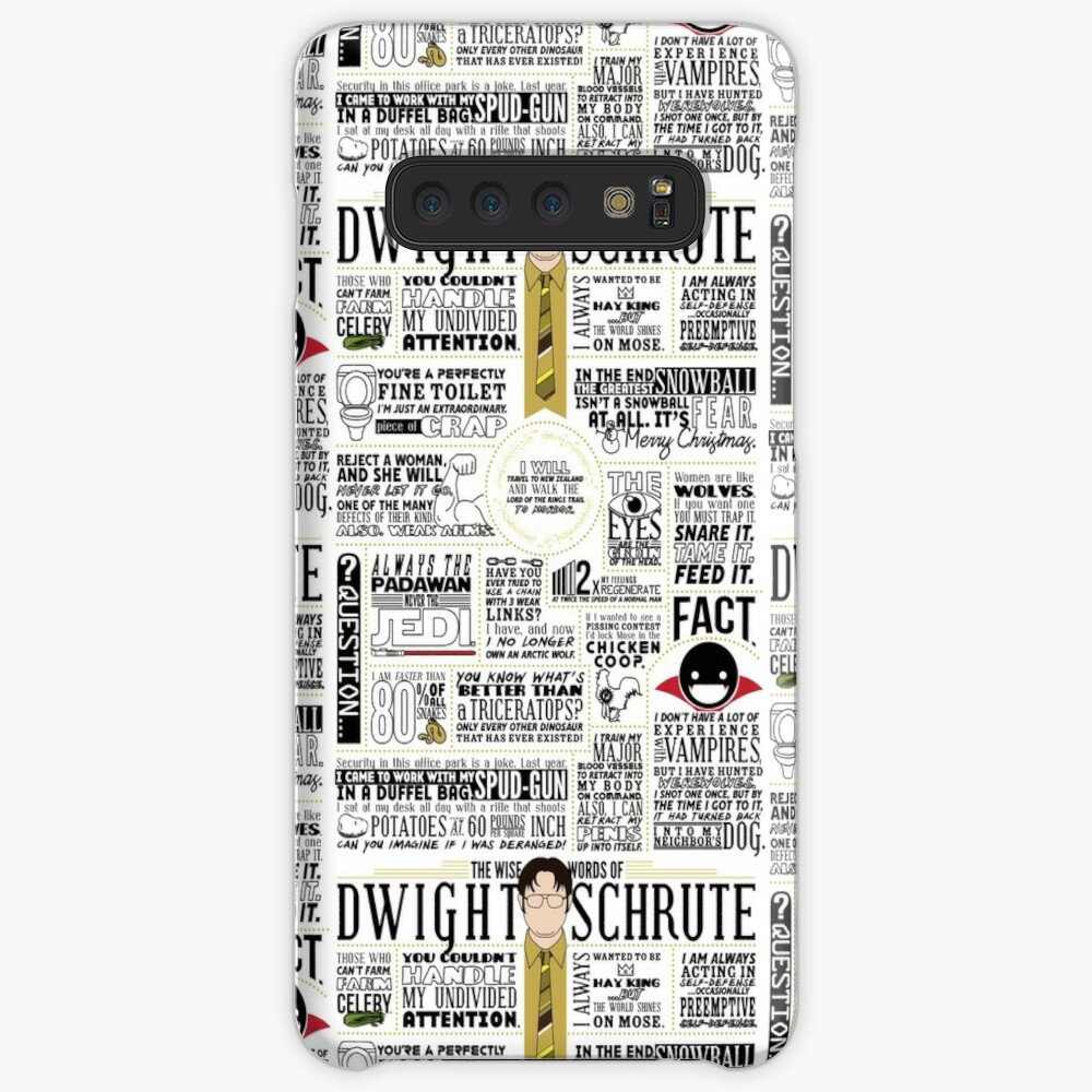 The Wise Words of Dwight Schrute (Light Tee) Case & Skin for Samsung Galaxy