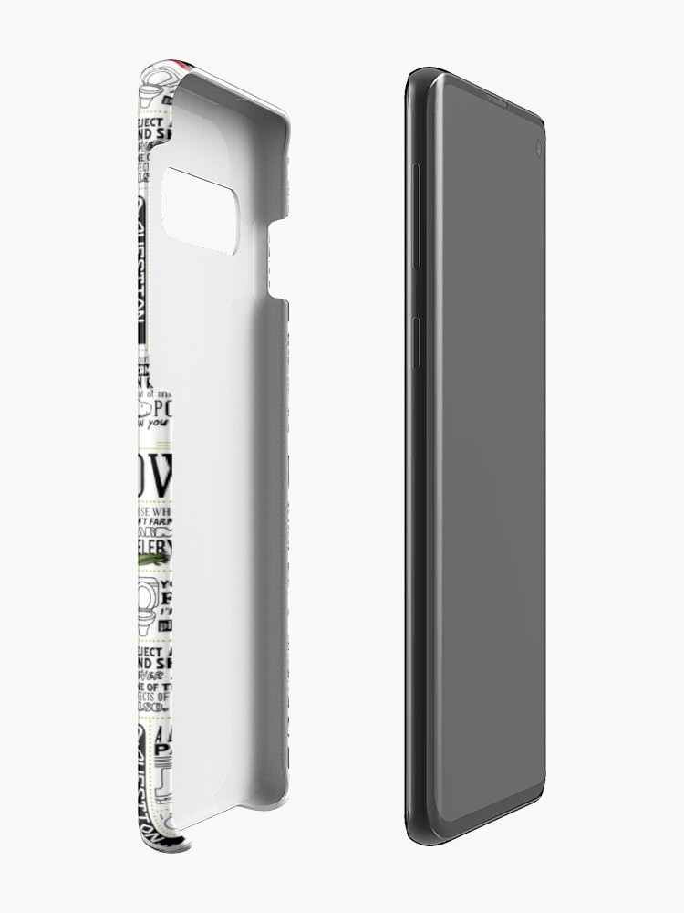 Alternate view of The Wise Words of Dwight Schrute (Light Tee) Case & Skin for Samsung Galaxy