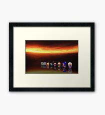Super Bomberman pixel art Framed Print