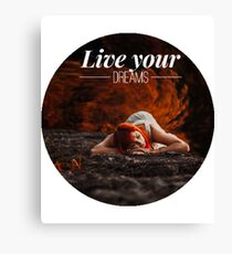 Live your dreams t-shirt Canvas Print