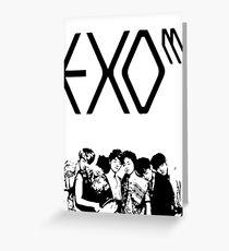 EXO M Grußkarte