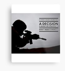Warrior Decision Metal Print