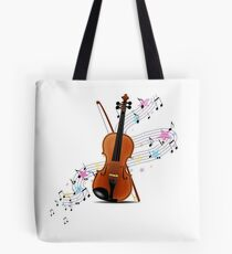 Violin music Tote Bag