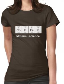 Periodic Table of Coffee - White Womens Fitted T-Shirt