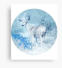 Merry Christmas From the North Pole, deer t-shirt Metal Print