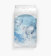 Merry Christmas From the North Pole, deer t-shirt Duvet Cover