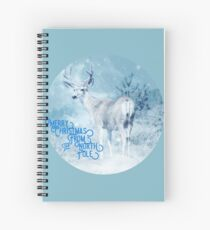 Merry Christmas From the North Pole, deer t-shirt Spiral Notebook