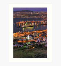 Cape Town CBD & Harbour Art Print