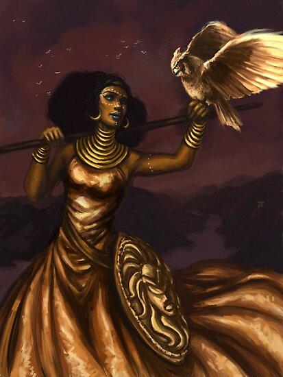 Athena, Göttin der Weisheit von Christy Tortland