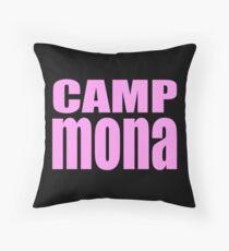 Camp Mona Throw Pillow