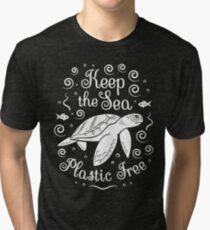Rette unser Meer - halte das Meer plastisch - Schildkröte Vintage T-Shirt