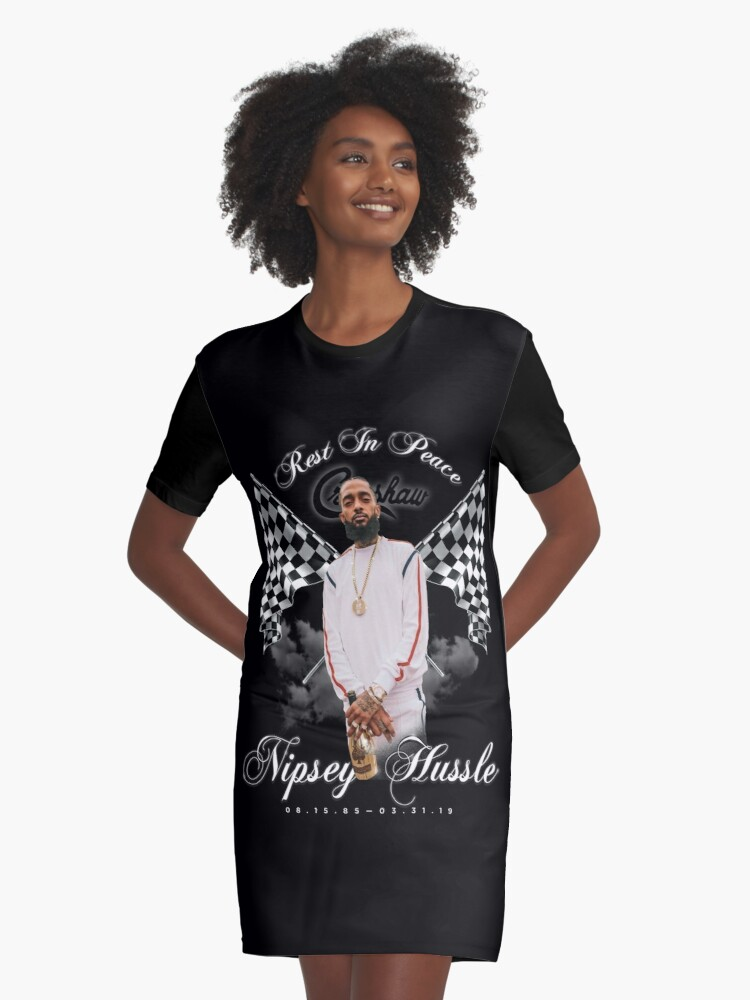 'RIP Nipsey Hussle Nipsey Hussle RIP Rest in Peace Nipsey Hussle Tribute  Crenshaw Marathon Fan Art & Merch ' Graphic T-Shirt Dress by robtaf