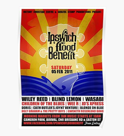Ipswich Flood Benefit Poster