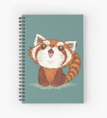 Red panda happy Spiral Notebook