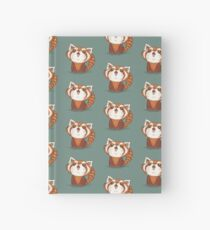 Red panda happy Hardcover Journal