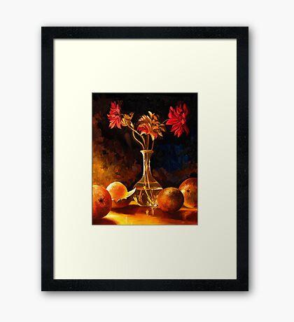 Still Life on Fire Framed Print