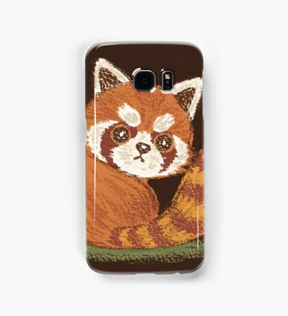 Red Panda look back Samsung Galaxy Case/Skin