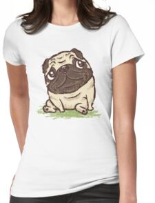 Pug that relaxes Womens Fitted T-Shirt