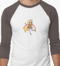 Lady Rainicorn Men's Baseball ¾ T-Shirt