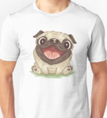 Happy Pug Unisex T-Shirt