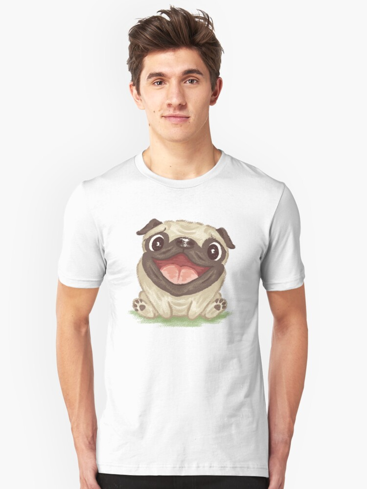 Happy Pug Unisex T-Shirt Front