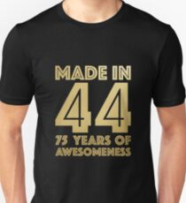 75th Birthday Gift Adult Age 75 Year Old Men Women Slim Fit T Shirt