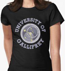 University Of Gallifrey (Black/Dark Colours) Women's Fitted T-Shirt