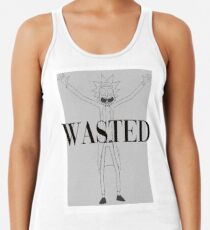 Rick and Morty Wasted Fan Art Racerback Tank Top