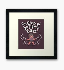 Ruby and the Eternal Flame Framed Print