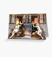 Historic Ornamental Fountain Display Greeting Card