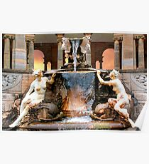 Historic Ornamental Fountain Display Poster