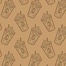 Shabby Chic Iced Coffee - All Brown by TimorousEclectc