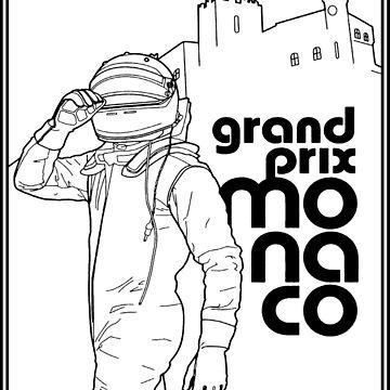 MONACO: Grand Prix Automobile Racing Werbedruck von posterbobs