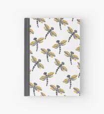 Dragonflies - Black & Golden Hardcover Journal