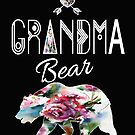 Grandma Bear Bojo Floral Family Adventure & Camping Gift Design by kimmicsts