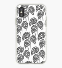 Leaves with Stains - Black & White iPhone Case